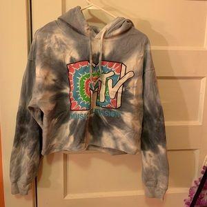 Mtv cropped hoodie